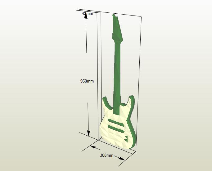 Guitarra Eléctrica papercraft