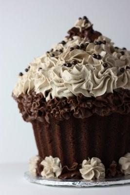 Cupcake gigante de chocolate  Mundo Pastel