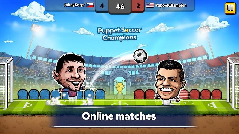Puppet Soccer Champions APK MOD imagen 1