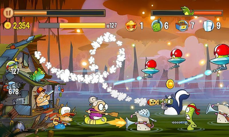 Swamp Attack APK MOD imagen 3