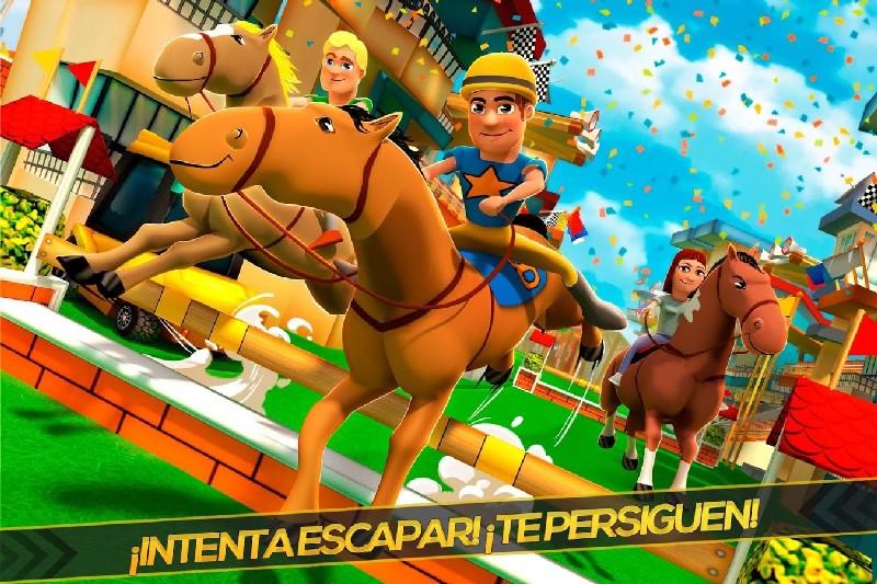 Cartoon Horse Riding Game APK MOD imagen 1