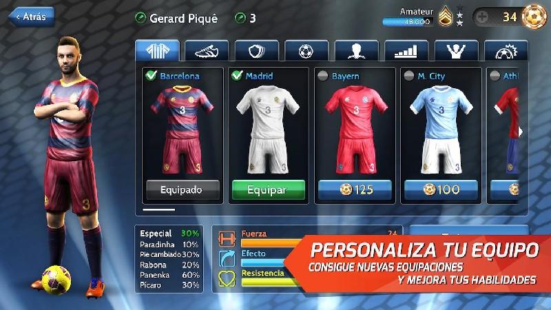 Final kick: Online football APK MOD imagen 4