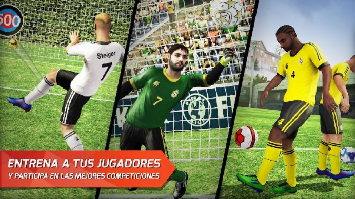 Final kick: Online football APK MOD imagen 5