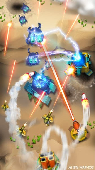 Tower Defense Alien War TD 2 APK MOD imagen 2