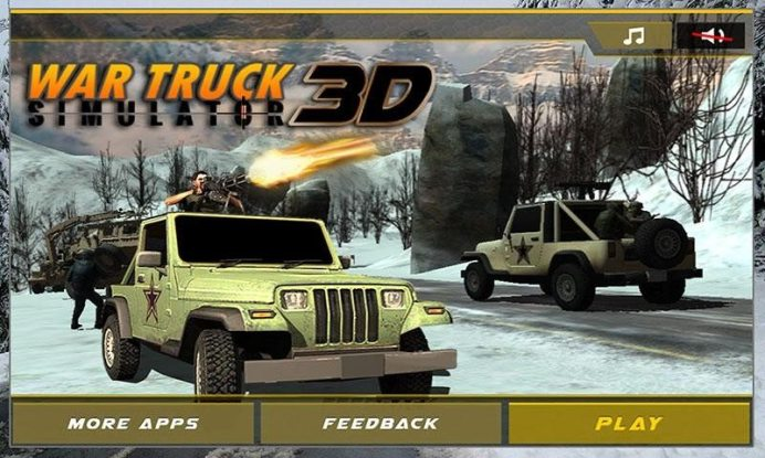 Army War Truck Driver Sim 3D APK MOD imagen 5