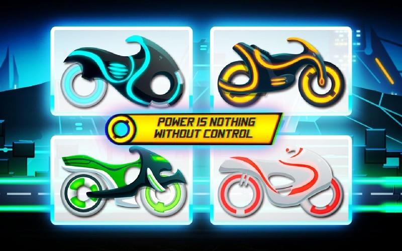 Bike Race Game Traffic Rider Of Neon City APK MOD imagen 1