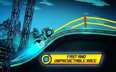 Bike Race Game Traffic Rider Of Neon City APK MOD imagen 2