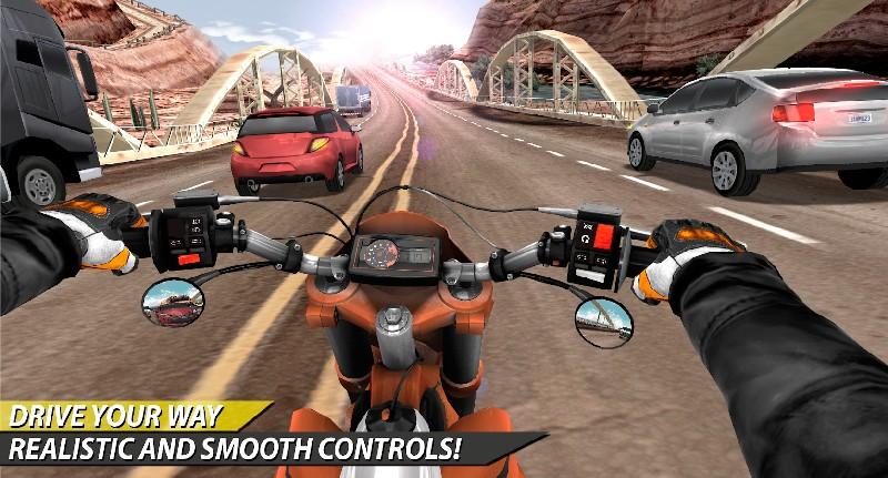 Moto Rider In Traffic APK MOD imagen 3
