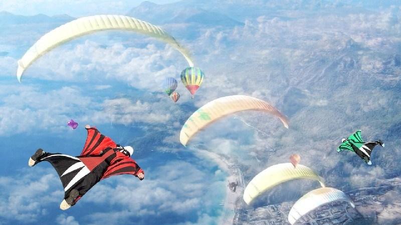 Wingsuit Simulator 3D APK MOD imagen 1