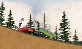 Stickman Downhill Motocross APK MOD imagen 3