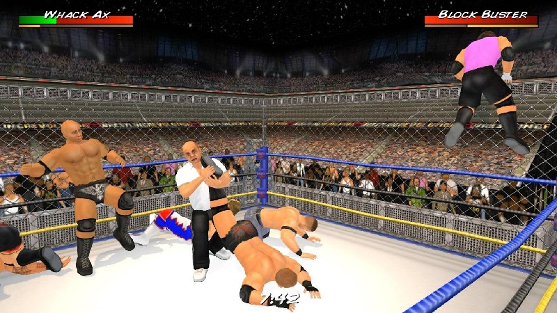 Wrestling Revolution 3D APK MOD imagen 1
