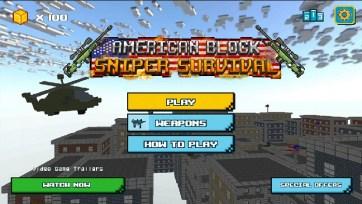 American Block Sniper Survival APK MOD imagen 3