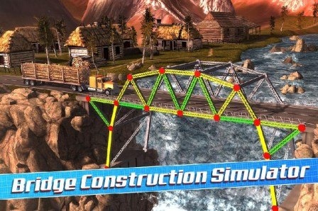 Bridge Construction Simulator APK MOD imagen 1