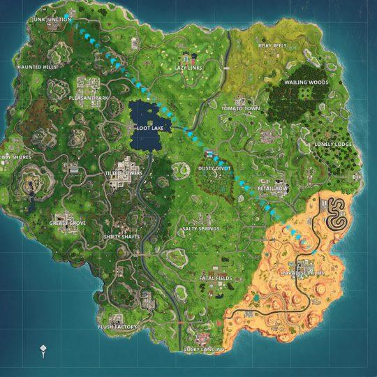 Mapa Fortnite Temporada 4.Comparacion Del Mapa De Fortnite Season 5 Vs Season 4