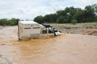 Cruzando rios na Namíbia