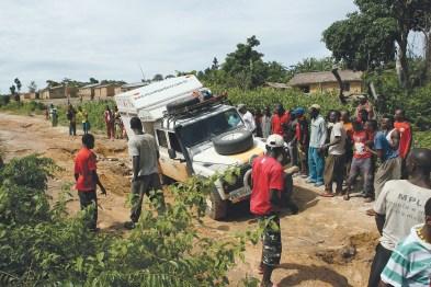 Quase tombou no norte da Angola