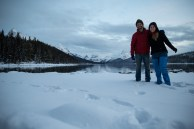 Final do dia no Lago Maligne