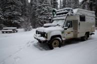 Mais um acampamento com muita neve