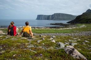 Contemplando o Nordkapp