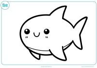 Tiburon Animado Para Colorear Dibujos Animados De