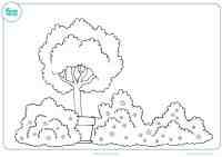 Dibujo de primavera para colorear - Mundo Primaria
