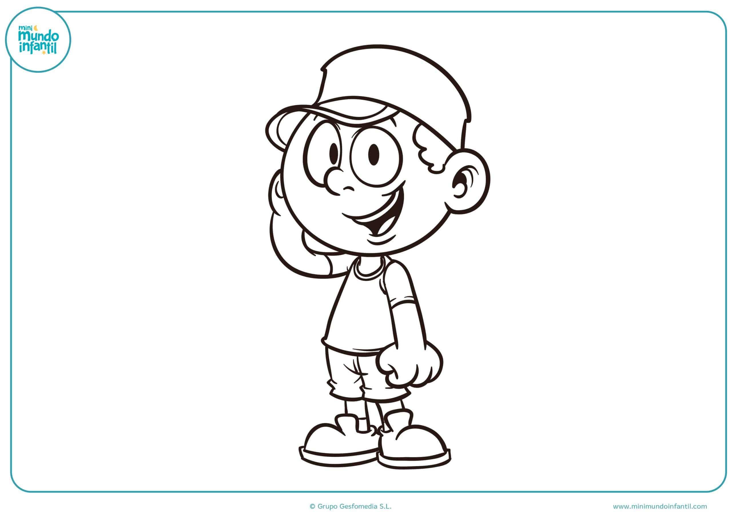 Figuras Para Colorear Para Niños De Preescolar: Dibujos De Nios Y Nias Para Colorear
