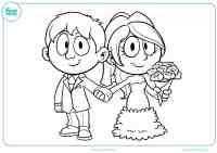 Dibujos de boda para colorear - Mundo Primaria