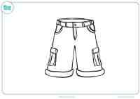 Dibujo de un pantaln para colorear nios - Mundo Primaria