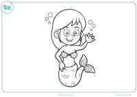Dibujos de Sirenas para colorear - Mundo Primaria