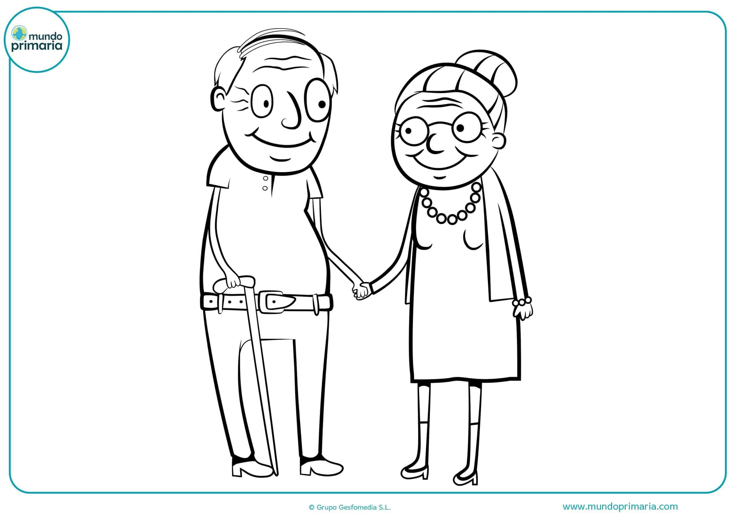 Dibujos De Abuelos Y Abuelas Para Pintar
