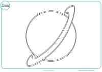 Dibujos de planetas para colorear - Mundo Primaria