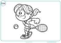 Dibujos de tenis para colorear - Mundo Primaria