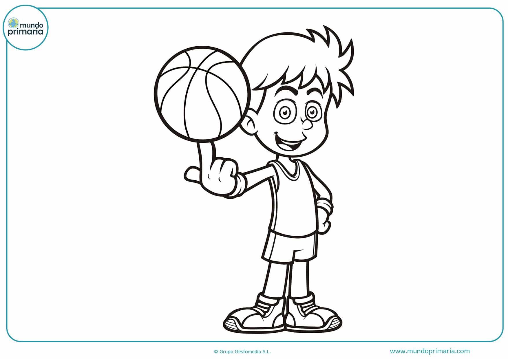 Dibujos Para Colorear De Baloncesto