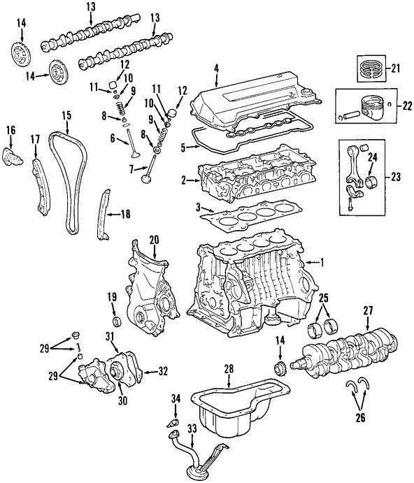 Motor Completo Original para Toyota Corolla 2000 2001 2002