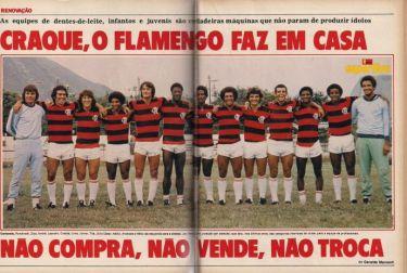 """""""Craque o Flamengo faz em casa"""" Foto: Site do Flamengo"""