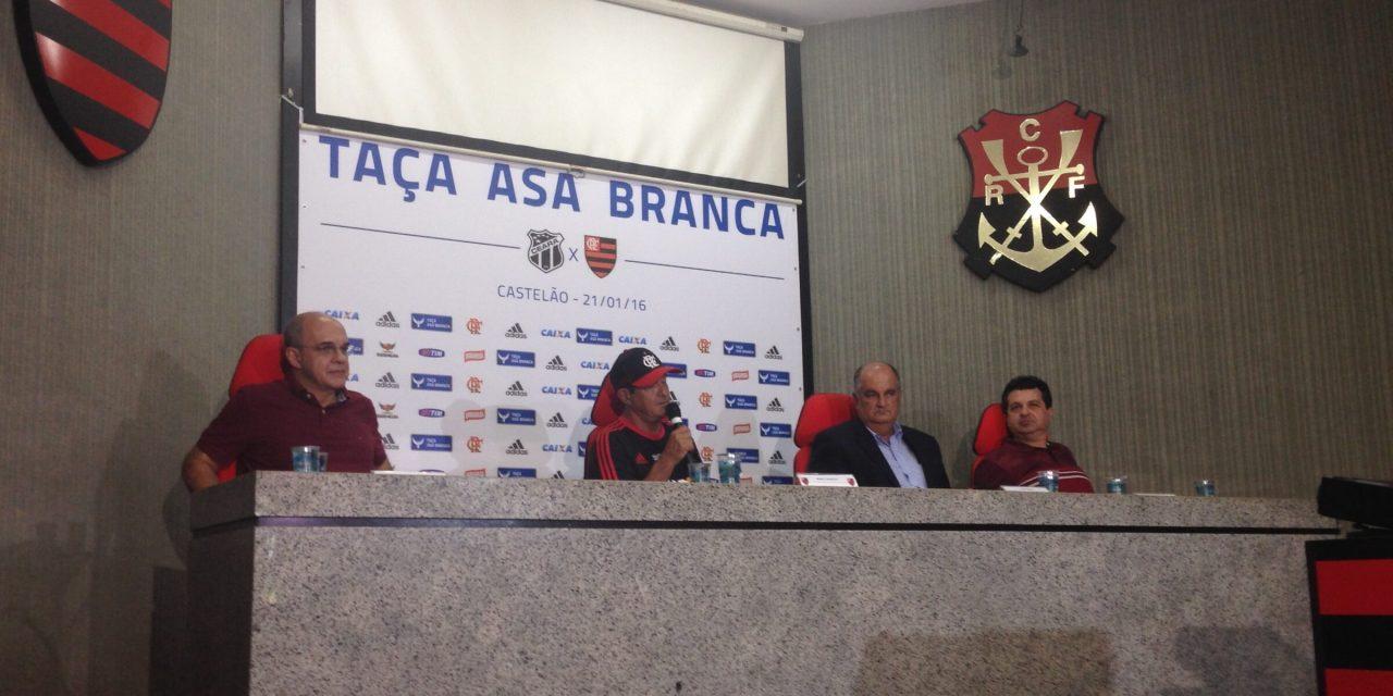 Flamengo volta ao Nordeste para disputar Taça Asa Branca