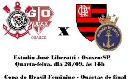 Copa do Brasil Feminino: Flamengo/Marinha busca vaga para as semifinais em Osasco