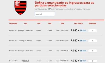 """Parceira do Flamengo oferece """"season tickets"""""""
