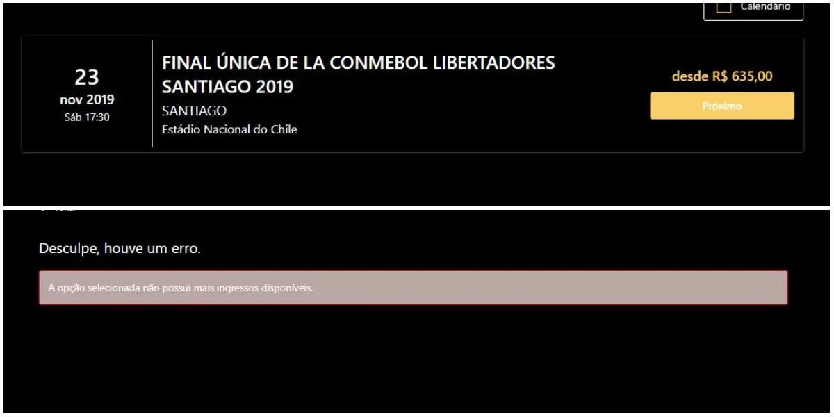 Primeiro lote de ingressos para a final da Libertadores destinados ao público em geral esgota em segundos