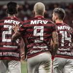 Trio do Flamengo lidera ranking de participação em gols no Brasileirão 2019