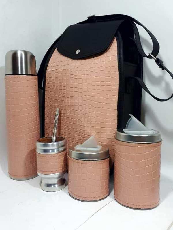 Set matero color croco Rosa colección FAR