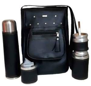Set de mate con cartera negro colección YOYO