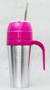 Mate autocebante de Aluminio color fucsia ventas por mayor
