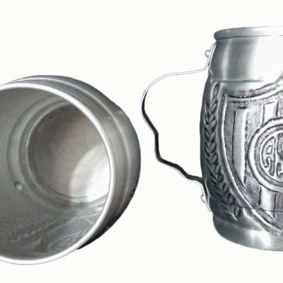 Chopera de aluminio del Club San Lorenzo cincelada a mano