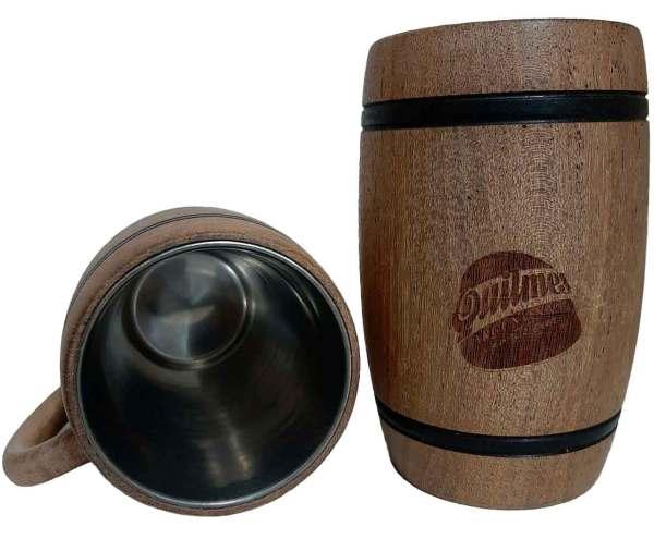 Chopera de madera con grabado laser de Quilmes