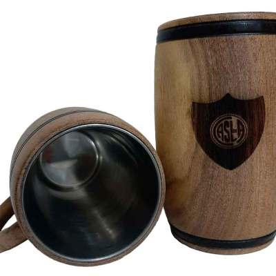 Chopera de madera con grabado laser de San Lorenzo
