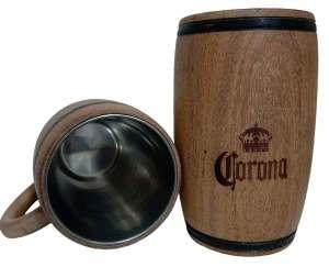 Chopera de madera con grabado laser de Corona