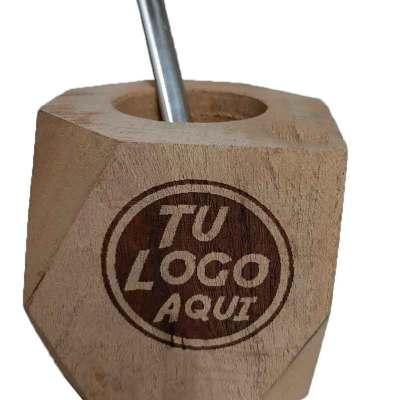 Mate hexagonal con grabado a laser de tu logo