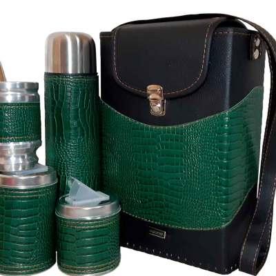 Set matero croco verde colección Tami