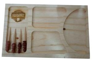 grabado laser en tabla para picar diseño de brahma